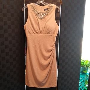 CACHET Sparkly Blush Colored Dress Crystals Sz 14
